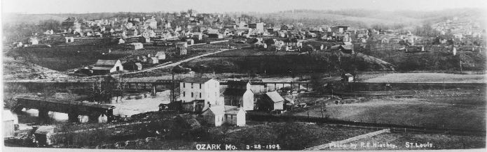 Ozark, Missouri landscape in 1904