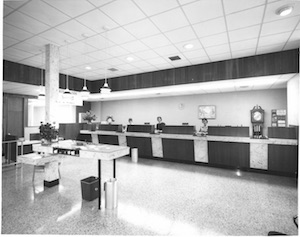 Late 1960s or 70s Ozark Bank lobby