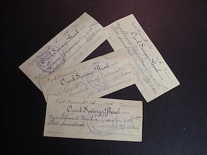 Original Ozark Bank savings bond documents