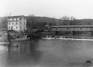 Historic Ozark Mill and Finley River scene